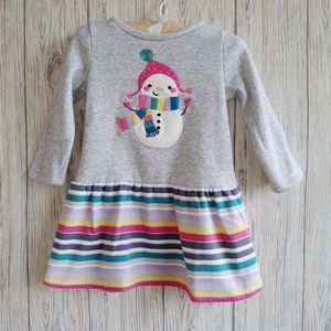 Gymboree Ice Dancer Snowman Warm Dress Size 2T